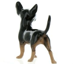 Hagen Renaker Pedigree Dog Chihuahua Large Black and Tan Ceramic Figurine image 10