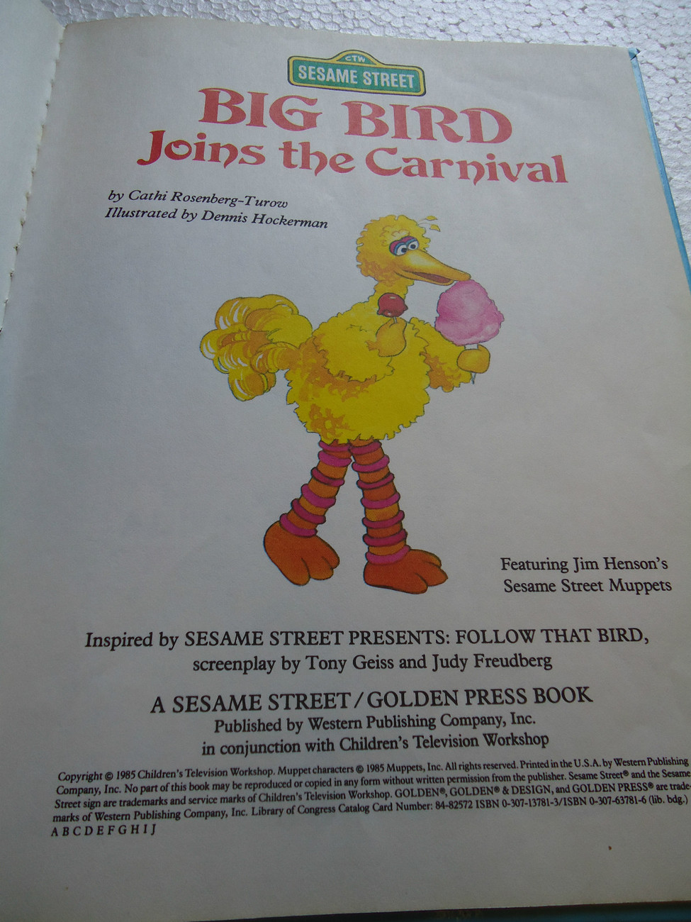 Sesame Street Book Club-Big Bird Joins the Carnival-Hardcover book 1985