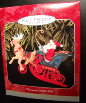 Hallmark Keepsake Christmas Ornament 1998 Christmas Sleigh Ride Die Cast... - $7.99