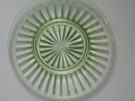 Depression Glass Pillar Optic Green Luncheon Plate - Anchor Hocking - La... - $10.00