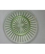 Depression Glass Pillar Optic Green Luncheon Plate - Anchor Hocking - La... - $13.28 CAD