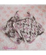 2 Crochet Basket Weave Potholders Dishcloths 100% Cotton Kitchen Set Var... - $7.99