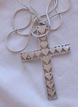 Silver Cross hearts - $40.00