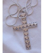 Silver Cross hearts - $40.00