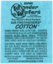 16- Wonder Wafers COTTON ~ Scent~Amazingly Fresh~ Air Freshener Home Auto - $7.87