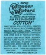 16- Wonder Wafers COTTON ~ Scent~Amazingly Fresh~ Air Freshener Home Auto - $7.87