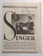 1935 Singer Sewing Machine Advertisement - $17.00