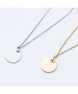 Men and women's Gold and Silver Coin Chain Pendant Necklace.  - $30.00