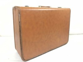 "Vintage Taperlite Hardside Suitcase Brown Leather 26"" x 19"" x 9"" Luggage... - $49.00"