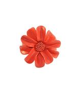 Flower Real Leather Cuff Bracelet ( Handmade By DrewClosets ) - $16.00