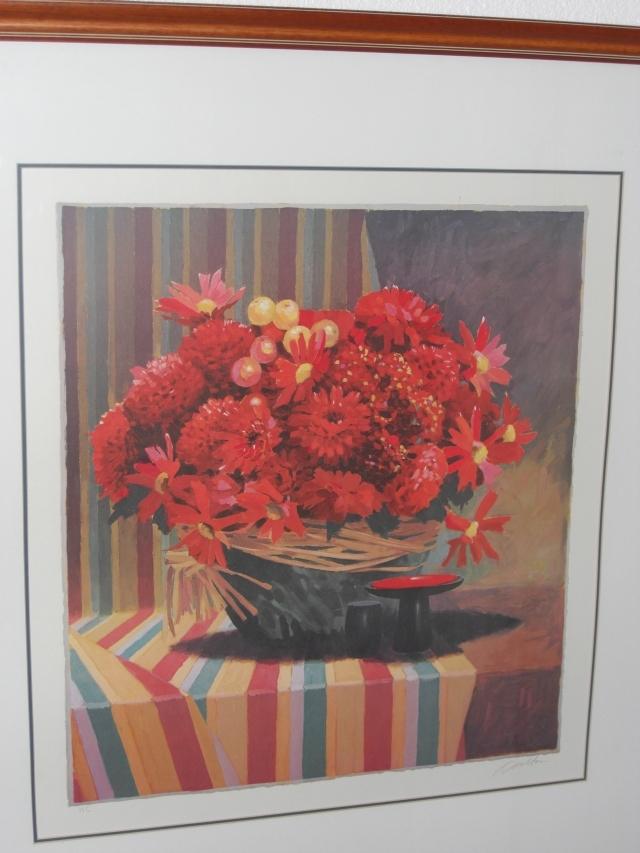 HARMON CARLTON IN RED Signed Framed Gicl