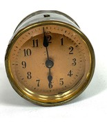 "Antique 2"" Copper Face Bevel Glass Clock ((FOR PARTS ONLY)) Estate Find - $65.83"
