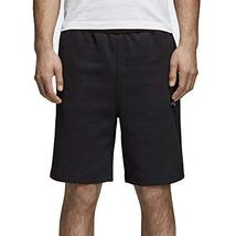 adidas Essentials 3 Stripes French Terry Shorts (Black, L)