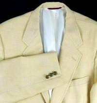 Hart Schaffner Marx Sport Coat Size 42 Regular Jack Nicklaus Gold Wool USA - $54.40