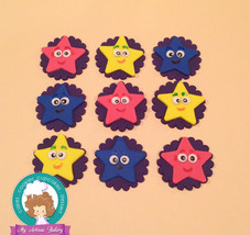 Stars  inspired fondant cupcake topper - $30.00