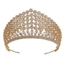 Hadiyana 2018 Luxury Clear CZ Bridal Crown Wedding Hair Jewelry Accessor... - £76.19 GBP