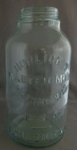 "Antique Horlick's 10"" Glass Malted Milk Jar Dairy Bottle c1890 Racine, W... - $18.00"