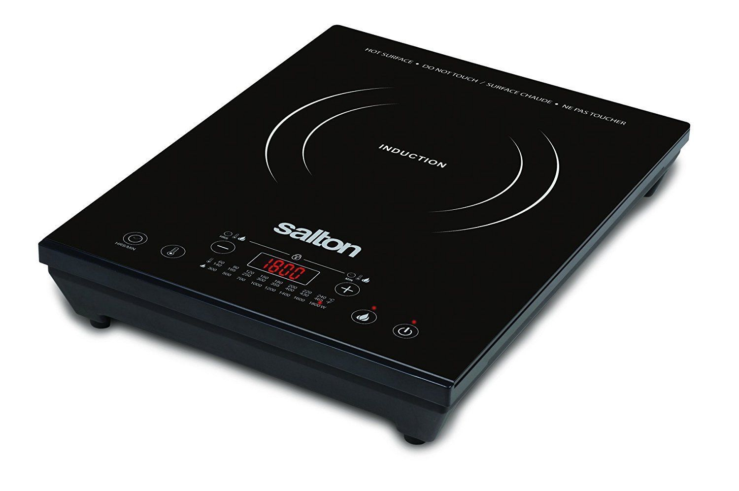 Salton Portable 8-Temperature 1800 Watts Induction Cooktop