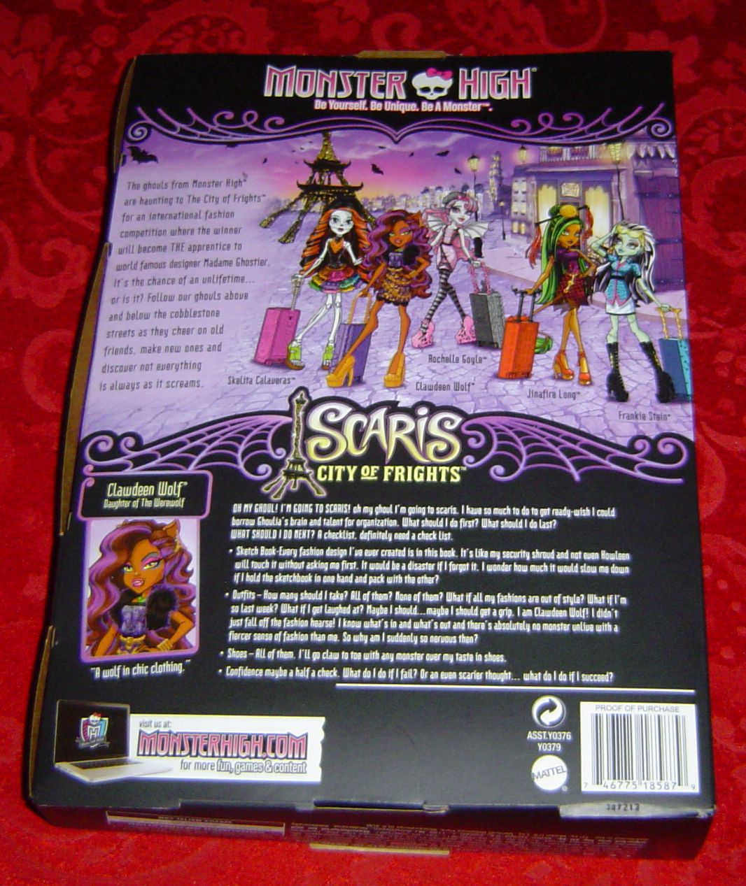 Monster High Clawdeen Wolf Scaris City of Frights Travel Doll Diary Suitcase