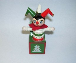 Wooden Jack in the Box Jester Ornament - $23.36