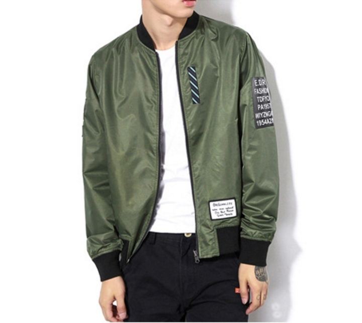 Autumn Men's Fashion Jacket Man's Outwear Coat Pilot Jacket Reversible Clothes M