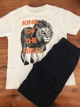 Gymboree White Lion Shirt w/ Dark Marine Navy Cargo Shorts Sz: 5 GYM6 - $16.36