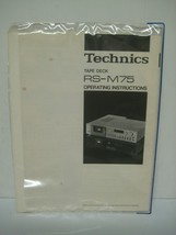 TECHNICS tape deck RS-M75 operating instructions manual - $16.24