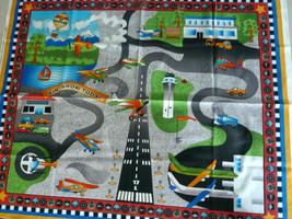 Airport Fabric Panel Mat 2007 Cotton Avlyn art by Nancy &Smith & Lynda M... - $9.89