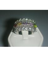 Gemstone Cocktail Ring Size 8 - $25.00