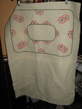 Vintage MISSION ARTS & CRAFTS Style Embroidered Pillow Cover FINISHED - $12.50