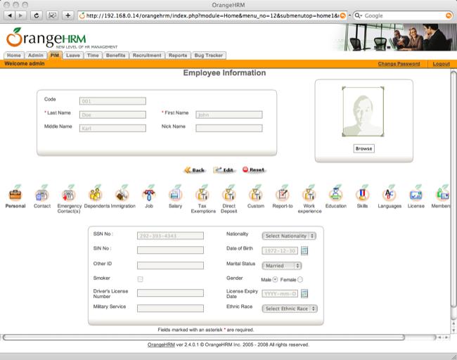 OrangeHRM - HR Management Software HRIS Solution Compare to Micosoft Dynamics GP