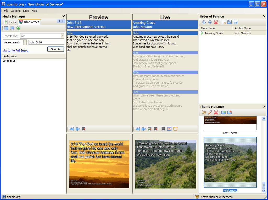 OpenLP Worship Church Presentation Software Alternative to Microsoft PowerPoint