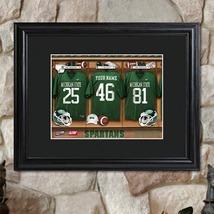 College Football Locker Room Print w/Wood Frame... - $70.00