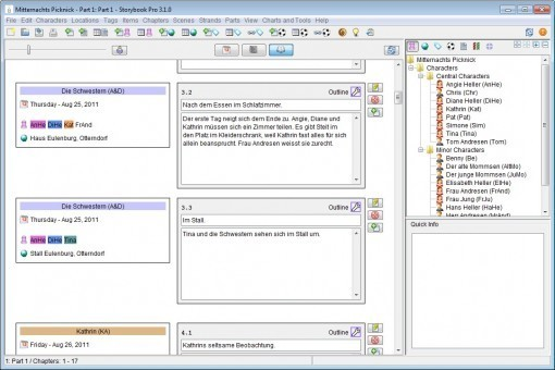 Storybook - A Scene-Based Software for all Creative Writers Compare to Dramatica