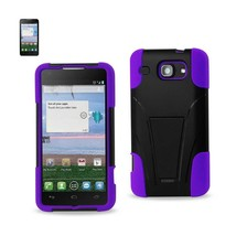 Reiko Alcatel One Touch Sonic Lte Hybrid Heavy Duty Case With Kickstand In Purpl - $8.36