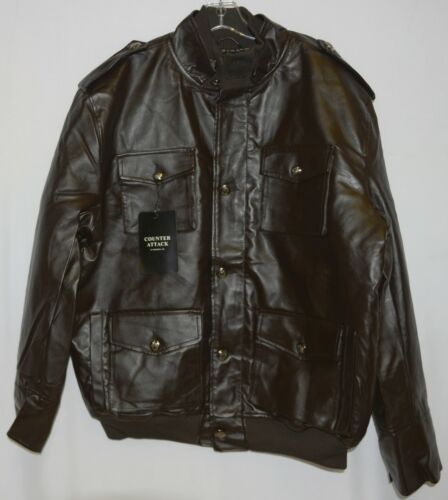 Counter Attack MJ018J Mens Polyester Jacket Color Brown Size 2XL