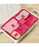 6 PCS Travel Storage Bag Set For Clothes Tidy Organizer Wardrobe Suitcas... - $25.26 CAD