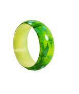 Green Abstract Bangle Bracelet - $12.00
