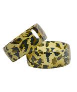 Leopard Fabric/Resin Bangle - $13.00