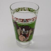 """1999 Warner Bros 5 3/4"""" Looney Tunes Tasmanian Devil Drinking Glass AS IS image 1"""