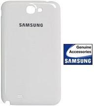 SAMSUNG GALAXY NOTE II 2 OEM WHITE BATTERY DOOR - $14.99