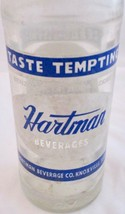 1962 Hartman Beverages 10 oz ACL Soda Bottle Knoxville Fruit Beverage Vi... - $11.87