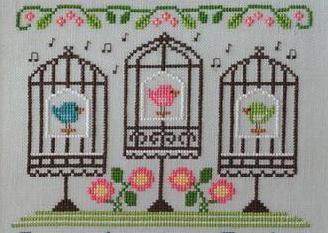 Singin In The Spring cross stitch chart Country Cottage Needleworks