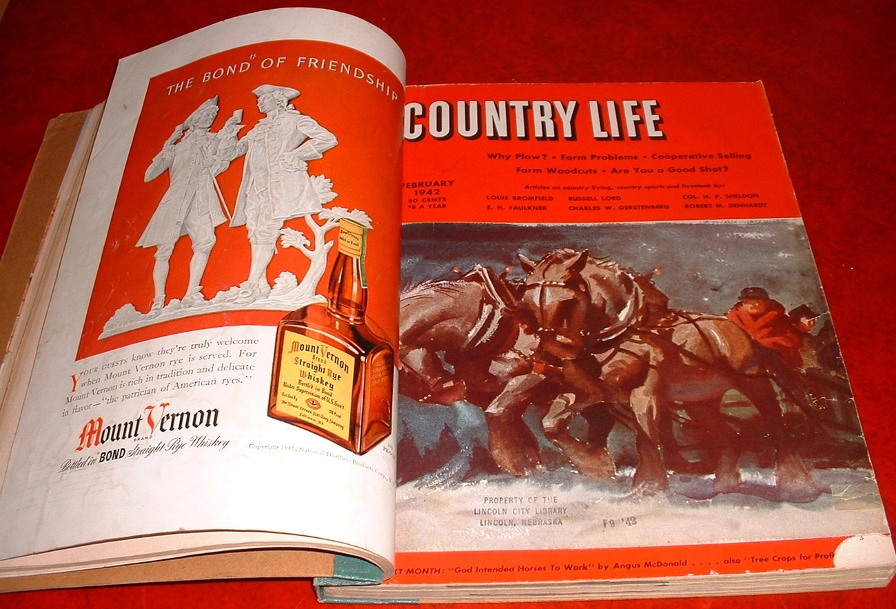 Country Life magazine Jan-Apr 1942 farm horses animals sports war