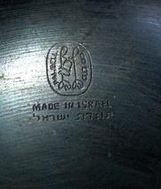 Israel Vintage Bronze Verdigris Tray Plate 1960's Isaiah 11 Signed Pal Bell image 7