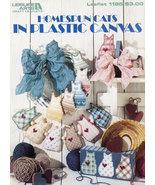 HOMESPUN CATS IN PLASTIC CANVAS DOORSTOP BOOKENDS - $4.50