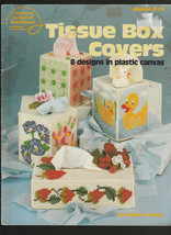 Tissue Box Covers   8 designs in Plastic Canvas  Barbara Hunter 1981 - $3.71