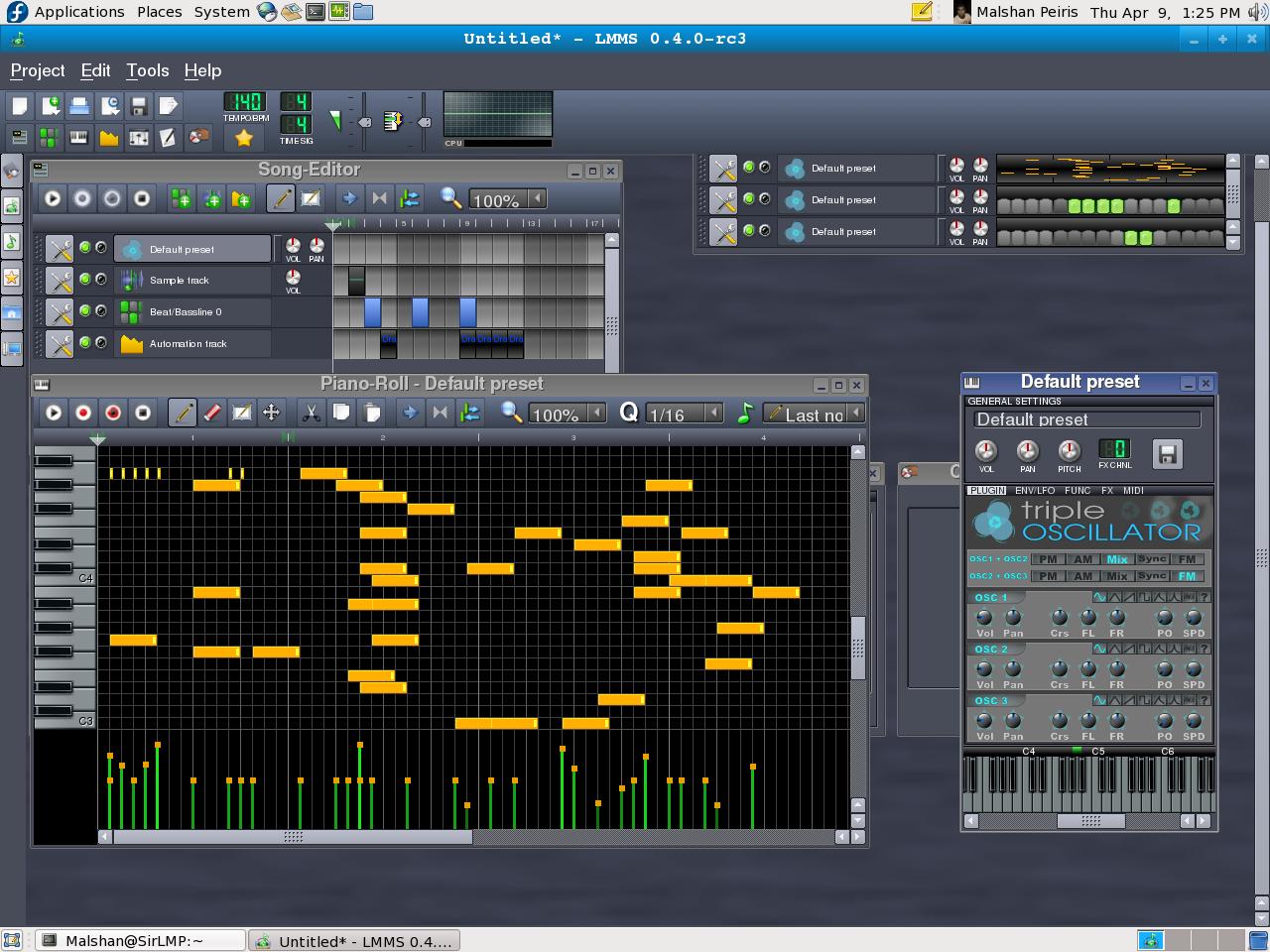 Linux MultiMedia Studio LMMS Great alternative to FL Studio 10 Music Production