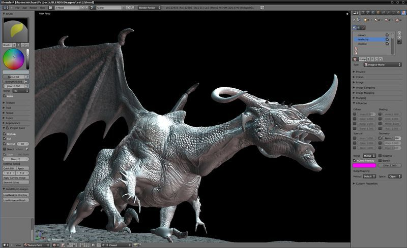 Blender-3D Content Creation Suite for Mac OS X Alternative to Autodesk 3ds Max
