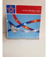 12 Foot LED RED WHITE AND BLUE ROPE LIGHTS - $30.00